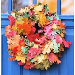 Dried Fall Leaves Wreath