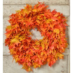Dried Fall Oak Leaves Wreath Extra Large 26