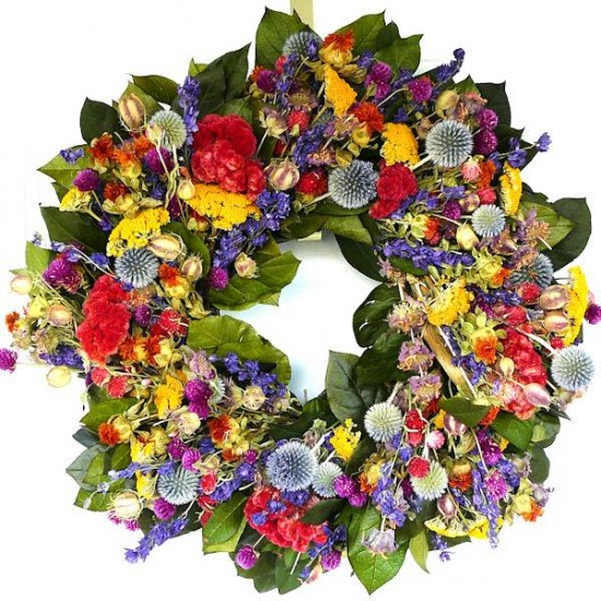 Hot Summer Garden Wreath - 20 inch
