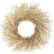 Dried Gold Quail Brush Wreath