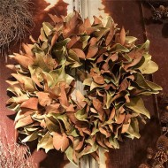 Dried Magnolia Wreath - 24 inch