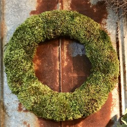 Dried Natural Mood Moss Wreath - 20 inch