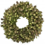 Dried Nigella Flower Wreath - 22 or 30 inch