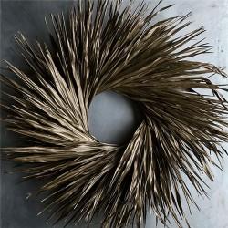 Dried Palm Leaf Wreath - Bronze