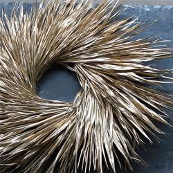 Dried Palm Leaf Wreath - Gold Leaf