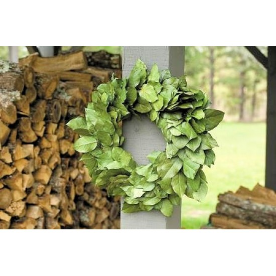 Dried Salal Wreath - 26 inches