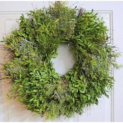 Fresh Juniper/Boxwood Holiday Wreath