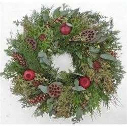 Fresh Rustic Holiday Wreath