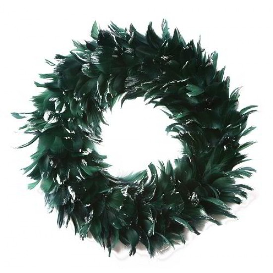 Goose Coquille Feather Wreath 15