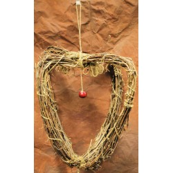 Grape Vine Heart Chandelier - wreath