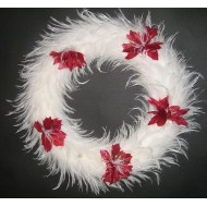 White Hackle Feather Wreath - 15