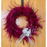 Pink Hackle Feather Wreath 18 inch diameter