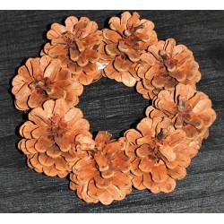 Mini Pine Cone Wreaths - 6 inch