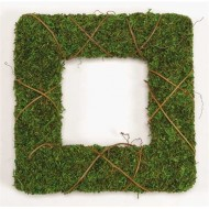 Dried Moss Wreath Set - One 12 & 24 inch Square wreath