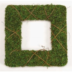 Dried Moss Wreath Set - 12 & 24 inch Squares
