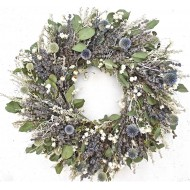 Dried Pastel Flowers Wreath