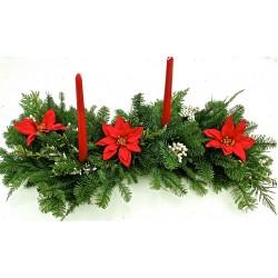 Fresh Holiday Poinsettia Centerpiece