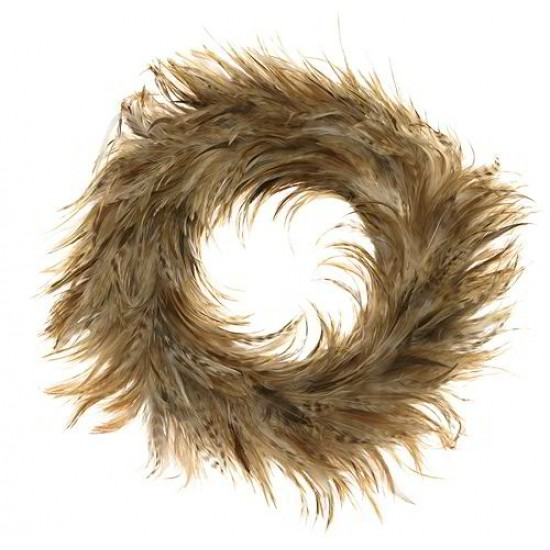 Red Chinchilla Rooster Feather Wreath 18