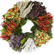 Dried Southwest Herb Wreath - 19 inch