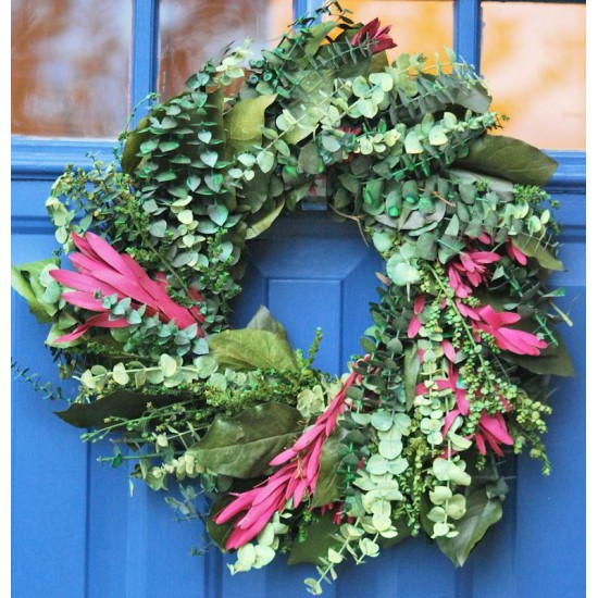 Preserved Safari Eucalyptus Wreath
