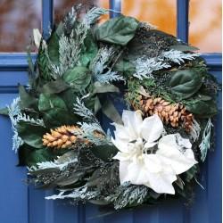 Winter Splendor Poinsettia Wreath